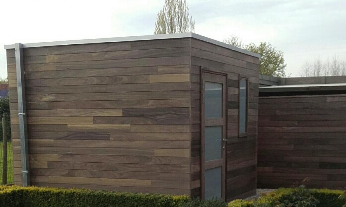 Modern tuinhuis in padoek door Woodproject