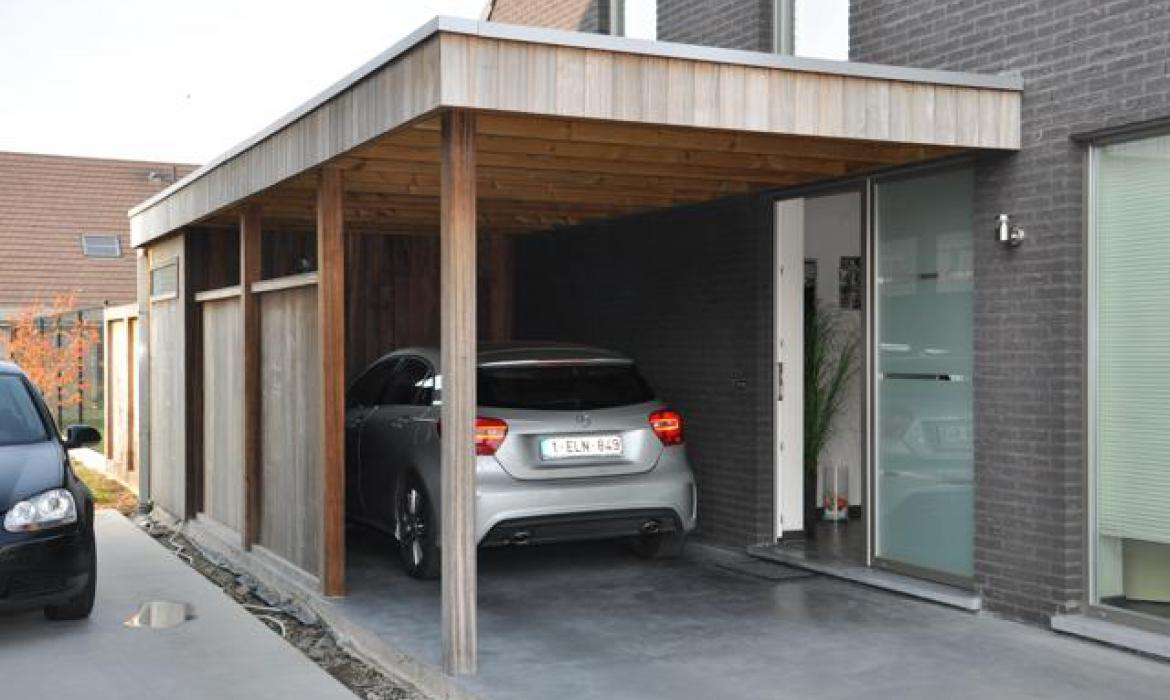 carport in padoek houten carports woodproject. Black Bedroom Furniture Sets. Home Design Ideas