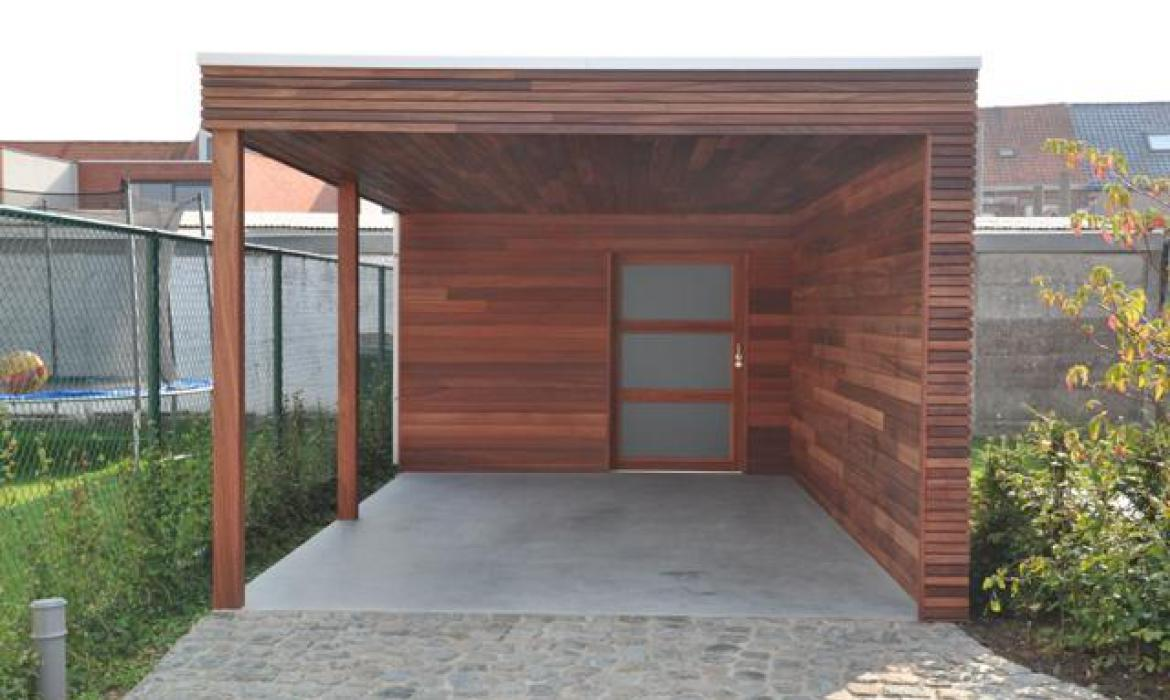 Carport in padoek (Houten Houten carports) | Woodproject