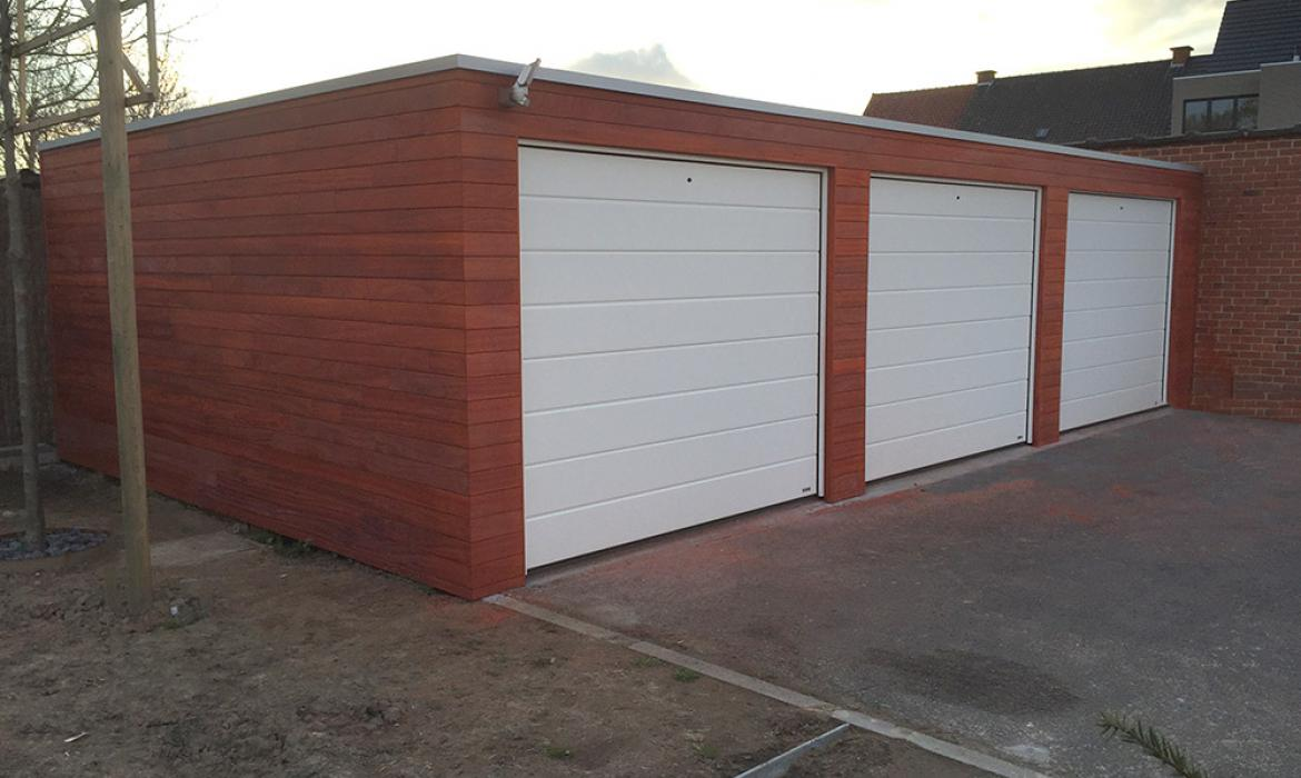 Moderne Houten Garage : Garages in padoek houten houten garages woodproject