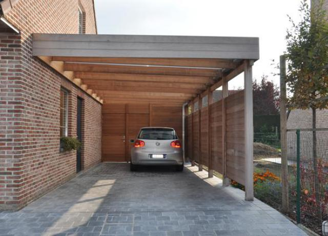 Houten carport in iroko door Woodproject
