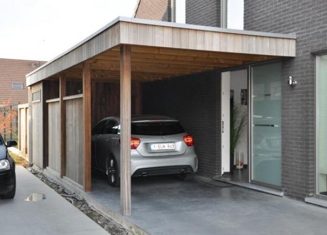 Houten carport in padoek door Woodproject