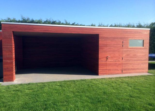 Poolhouse in padoek door Woodproject