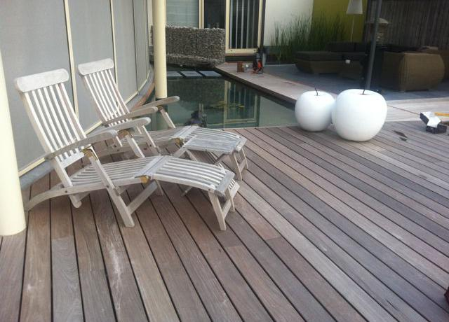 Houten terras in ipé hout door Woodproject