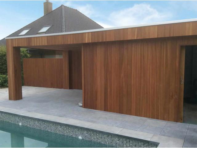 Poolhouse Woodproject: modern, strak