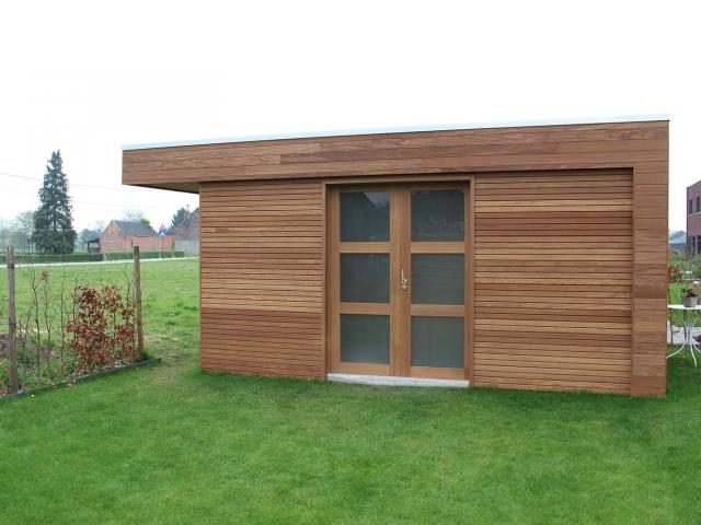 Tuinhuis in afromosia hout